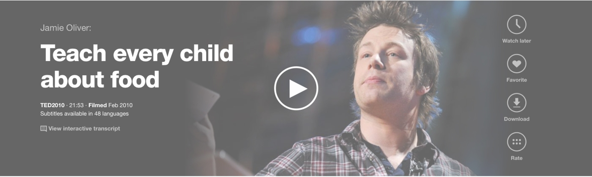 Jamie Oliver Teach every child about food  TED Talk